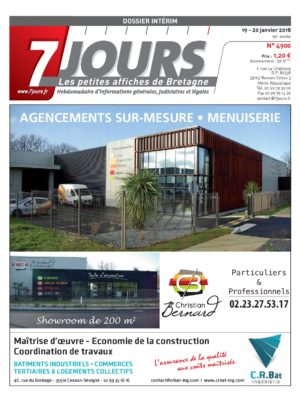 Couverture du journal du 20/01/2018