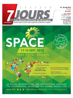 Couverture du journal du 25/08/2018