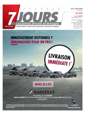 Couverture du journal du 11/08/2018