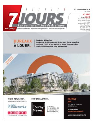 Couverture du journal du 03/11/2018