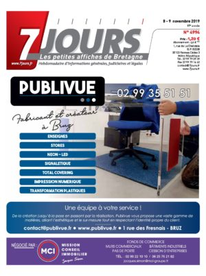 Couverture du journal du 09/11/2019