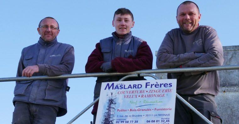 Illustration de l'article Maslard frères à la Fresnais : 4 générations de couvreurs !