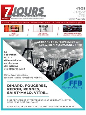 Couverture du journal du 07/08/2020