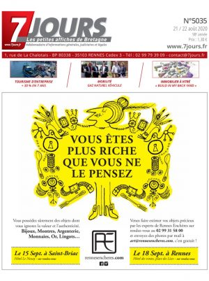 Couverture du journal du 21/08/2020