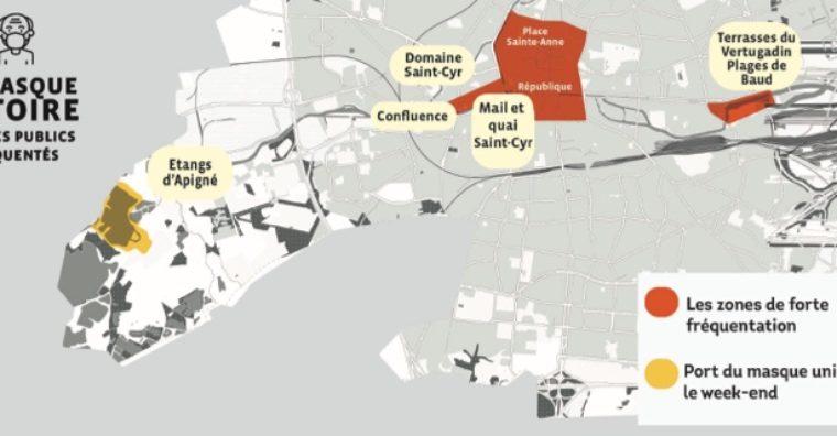 Illustration de l'article Rennes : masque obligatoire dans les zones à forte fréquentation
