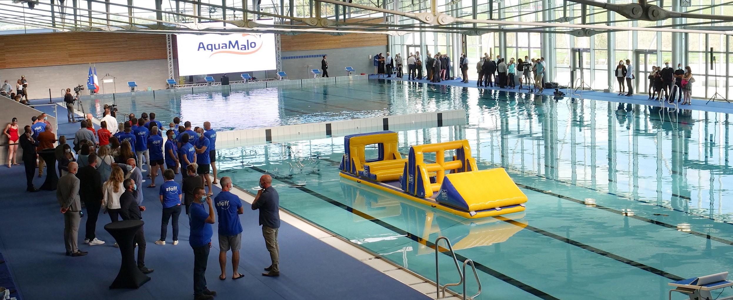Six bassins, dont un olympique de 50 mètres, des espaces dédiés à l'apprentissage de la nage, à la compétition, aux loisirs, la détente, le bien-être.