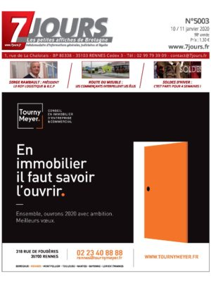 Couverture du journal du 13/01/2020