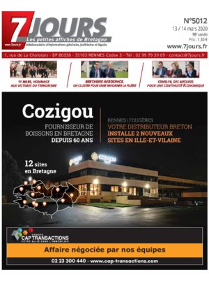 Couverture du journal du 13/03/2020