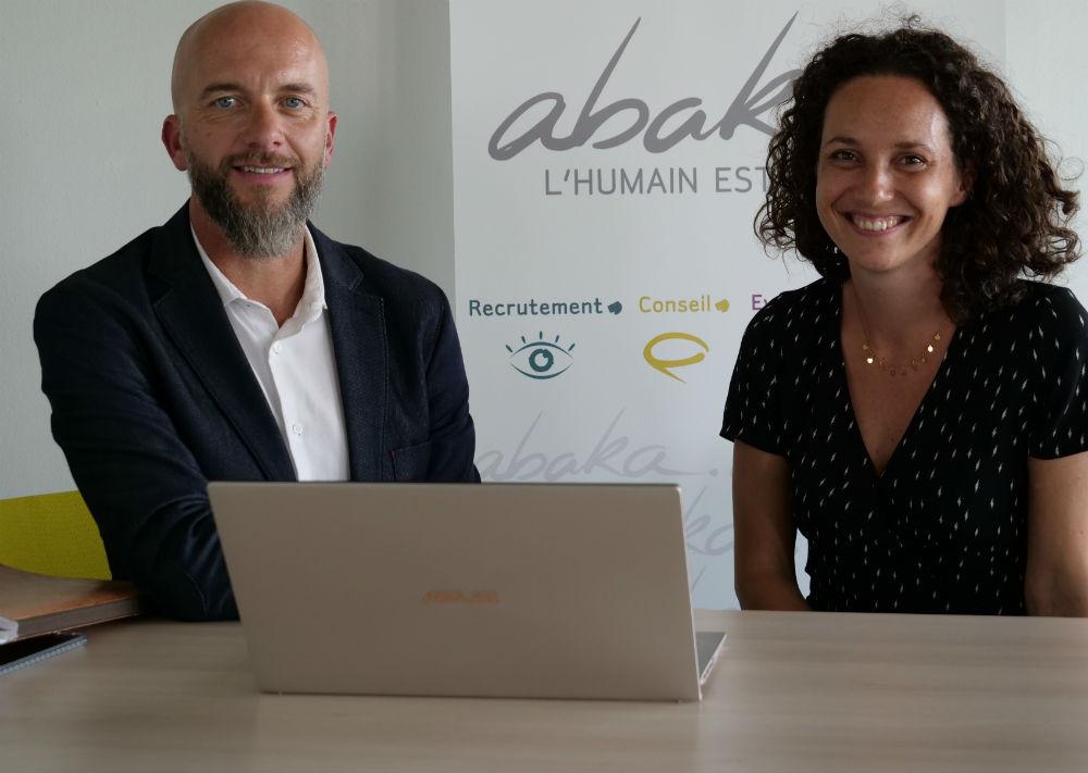 Franck Sauvaget directeur de l'Abakademy et Juliette Mucchielli directrice du développement d'Abaka