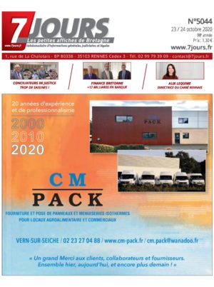 Couverture du journal du 23/10/2020