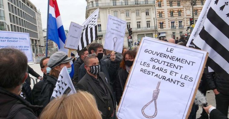 Illustration de l'article 400 cafetiers et restaurateurs manifestent