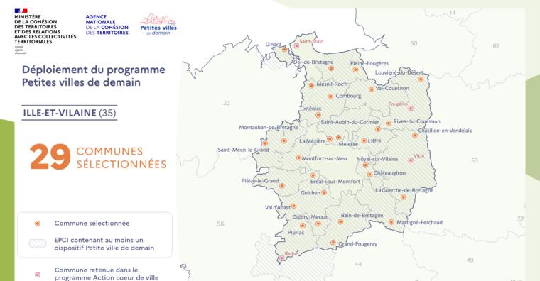 Illustration de l'article 29 « petites villes de demain » en Ille-et-Vilaine